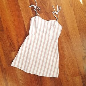 Dynamite pink & white striped minidress size small